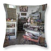 Victorian Toy Shop - Virginia City Montana Throw Pillow by Daniel Hagerman