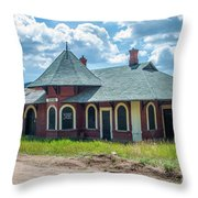 Midland Terminal Depot Throw Pillow