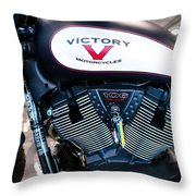 Victory Bike Red Throw Pillow