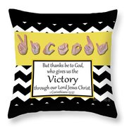 Victory - Bw Graphic Throw Pillow