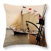 Victory Chimes Along Side Throw Pillow