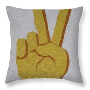 #victory Hand Emoji Throw Pillow