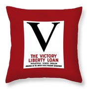 Victory Liberty Loan Industrial Honor Emblem Throw Pillow