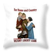 Victory Liberty Loan - World War One  Throw Pillow