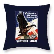 Victory Loan Bald Eagle Throw Pillow