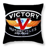 Victory Motorcycles Emblem Throw Pillow