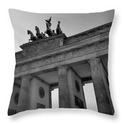 Victory Of Brandenburg Gate Throw Pillow