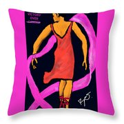 Victory Over Cancer Throw Pillow
