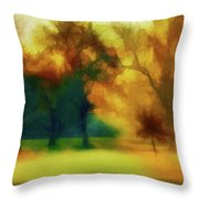Victory Park Painted Throw Pillow