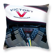 Victory Red Sq Throw Pillow