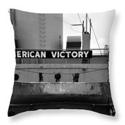 Victory Ship Throw Pillow