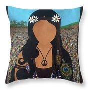 Vidas Pasadas, Woodstock 1969 Throw Pillow