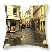 Vienna Corner After The Rain Throw Pillow