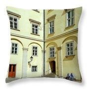 Vienna Courtyard Chat Throw Pillow