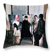 Vienna Fashion Shoot 1968 Throw Pillow