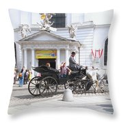 Vienna Horse And Carriage Throw Pillow