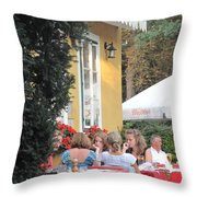 Vienna Restaurant In The Park Throw Pillow