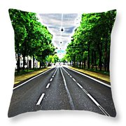 Vienna Ringstrasse Throw Pillow