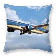 Vietnam Airlines Boeing 787 Dreamliner Throw Pillow