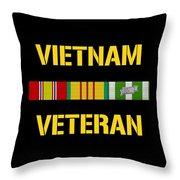 Vietnam Veteran Ribbon Bar  Throw Pillow