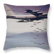 Vietnam War, B-52 Stratofortress Throw Pillow