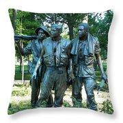 Vietnam War Memorial Statue Throw Pillow