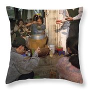 Vietnamese Street Food Throw Pillow