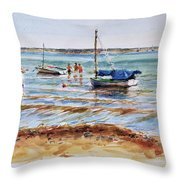 View Across Provincetown Harbor Throw Pillow