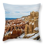 View Along The Ridge Throw Pillow