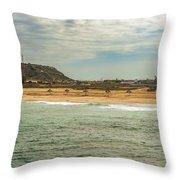 View At La Loberia Beach In Salinas, Ecuador  Throw Pillow