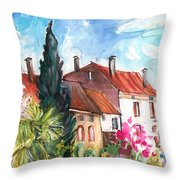 View From The Trefle Window In Albi Throw Pillow