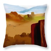 View From A Butte Throw Pillow