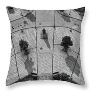 View From A Church Tower Monochrome Throw Pillow