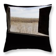 View From A Fort Throw Pillow