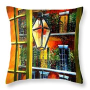 View From A French Quarter Balcony Throw Pillow