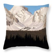 View From A Frozen Lake  Throw Pillow