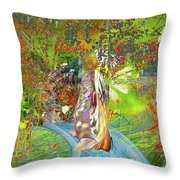 View From A Garden Throw Pillow