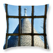 View From A New England Turret Throw Pillow