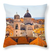 View From Above Of Dubrovnik Throw Pillow