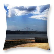 View From Across The Tagus Throw Pillow
