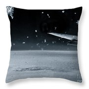 The View From Airplane Bw Throw Pillow