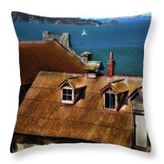 View From Alcatraz Throw Pillow