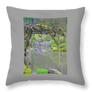 View From An Arbor Throw Pillow