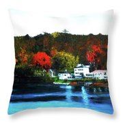 View From Belfast Throw Pillow