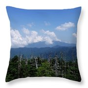 View From Clingman's Dome Throw Pillow