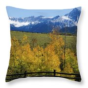View From Hwy 62, Ouray County, Co Throw Pillow