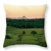 View From Dahmongah Lookout In Mount Mee Throw Pillow