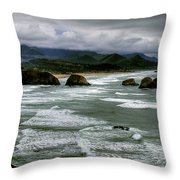 View From Ecola Throw Pillow