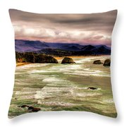 View From Ecola II Throw Pillow