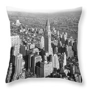 View From Empire State Bldg. Throw Pillow
